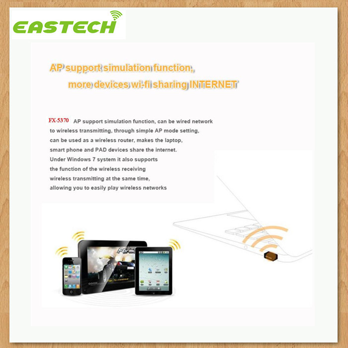 Eastech Ralink RT5370 Raspberry PI wifi adapter/ wifi dongle with soft AP function