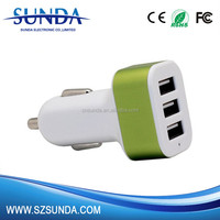 3 USB docks 5.2A output mobile phone portable USB car charger