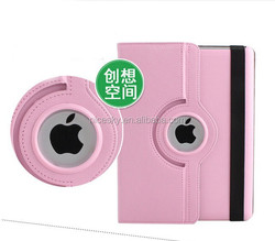 High quality 360 degree rotating pu leather case for iPad 5/iPad air factory price