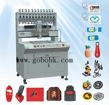 High efficient PVC rubber patch/keychain making machine