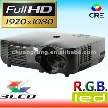 Native 1920*1080p lcd led full HD projector