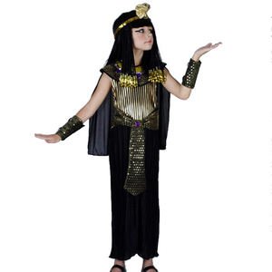 Egyptian Girl Queen Children Kids Fancy Dress Halloween Cleopatra Carnival Costumes Party Medieval Costume For Children DN2300-2