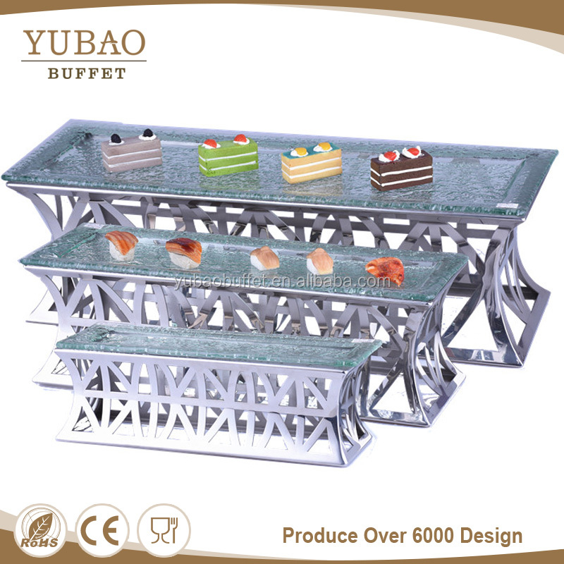 Metal food display rack stand, tier buffet stand display food for modern catering banquet equipment