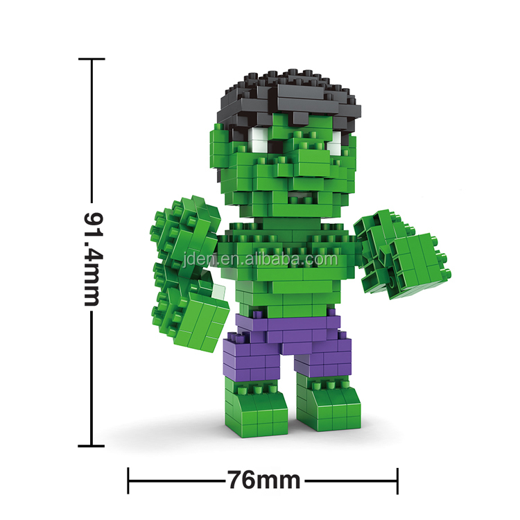 HSANHE American Action Figure Best Green Robot building blocks toys