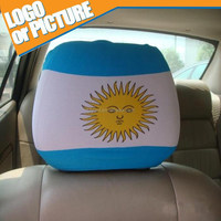 Hight quality 2014 BRAZIL WORLD CUP ARGENTINA FLAG car headrest cover/ seat back pillow case