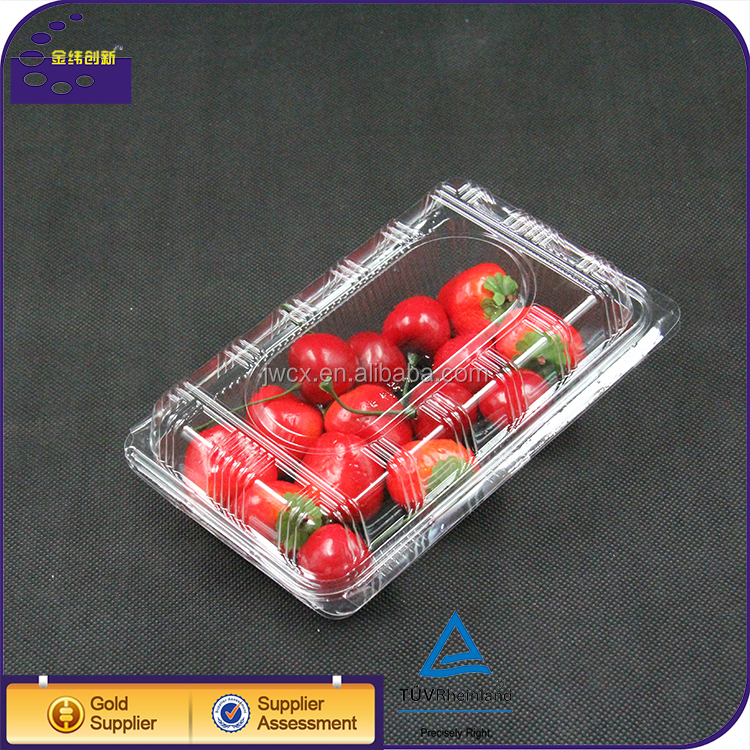 Clear ops plastic fruit and cake clamshell blister packaging container box
