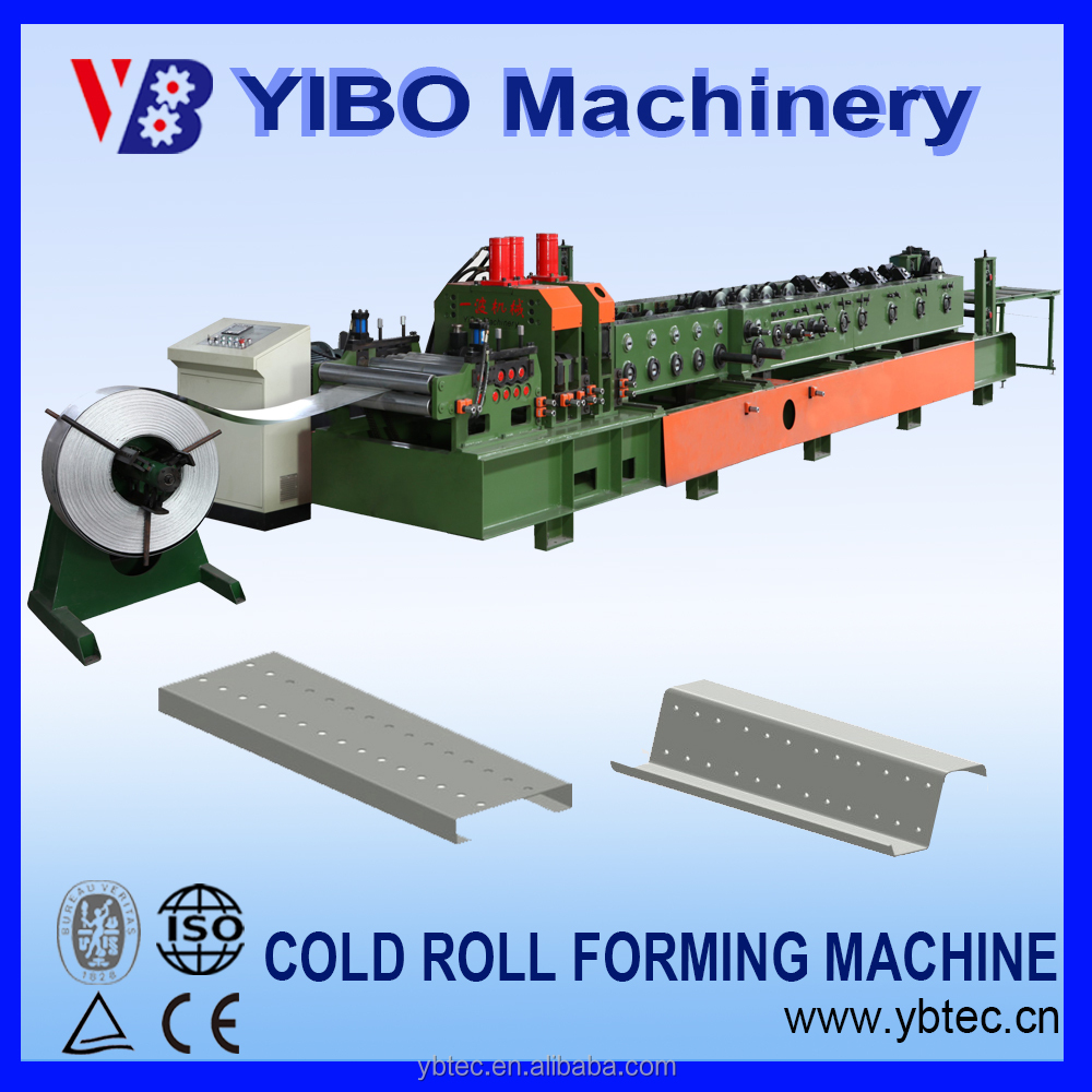 High class metal used u c z purlin cold roll forming machine making line