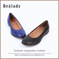 (E1063-292) 2016 Women genuine leather fashion comfortable flats ballerina dancing casual dress shoes elastic