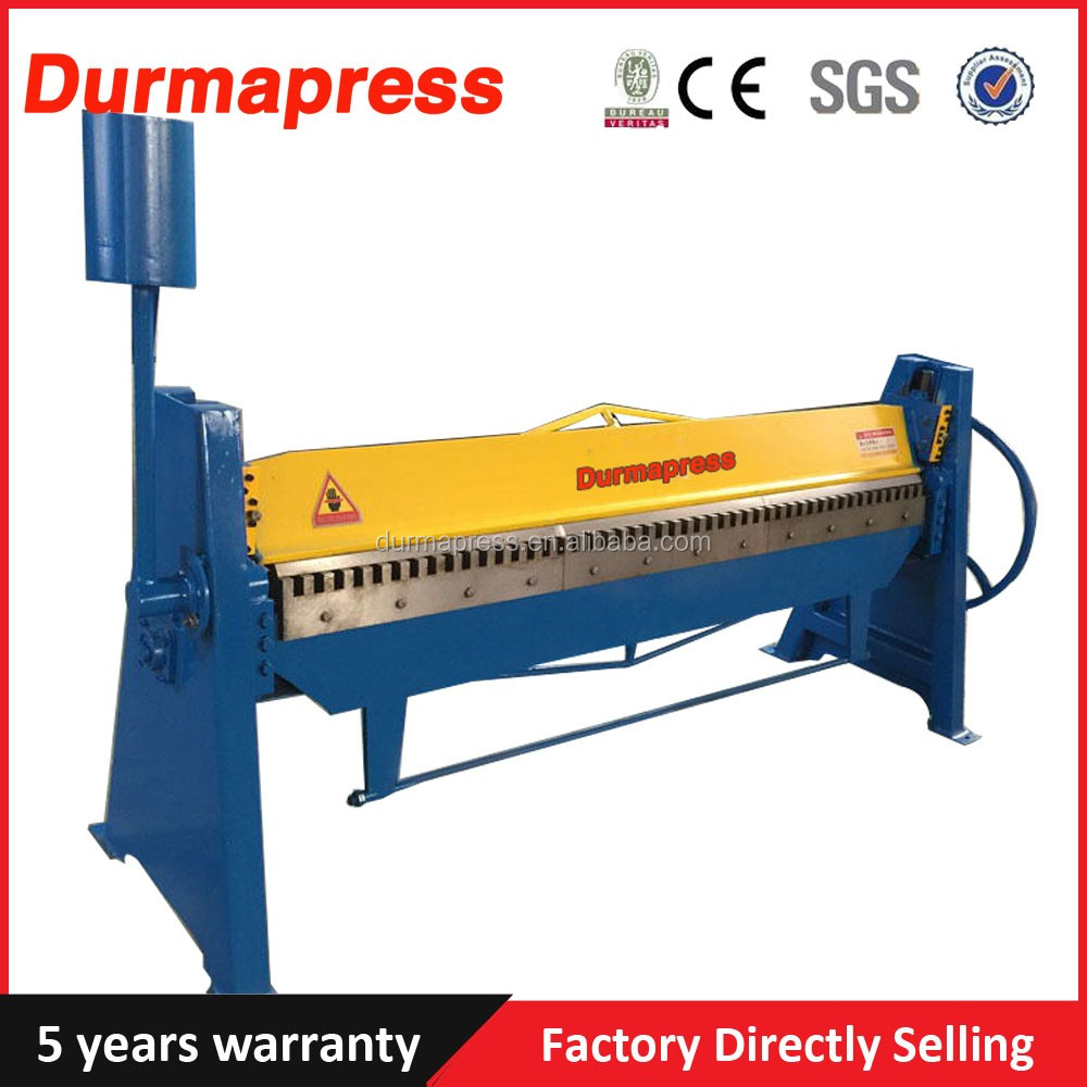 TDF-1.5X2000 china factory Manual pan and box brake bending folding machine for metal bending