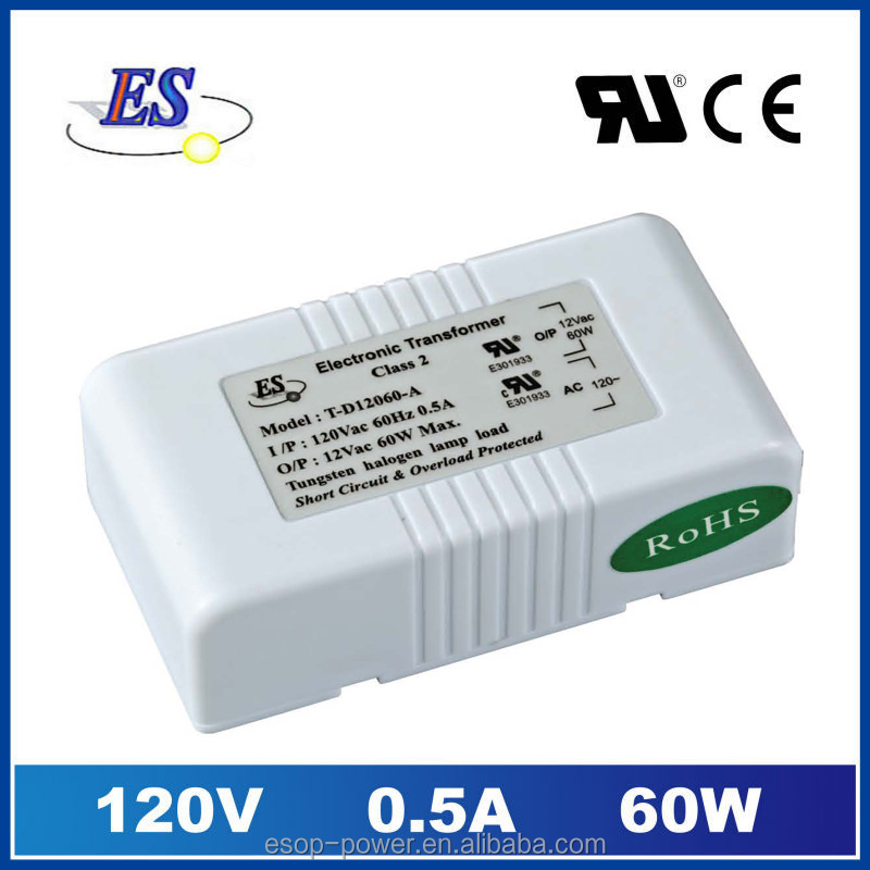 60W AC-AC Electronic Transformer Power Supply for down light with ul cul