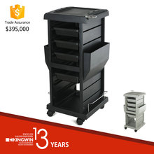 Black Professional Hair Salon furniture Trolley