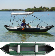Cheap fishing kayaks 12ft/360cm inflatable foldable kayak made in china HLA360