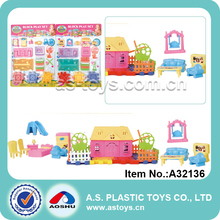 DIY construction brcik toy castle building block set for girl