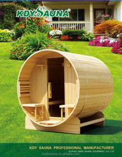 2016 New Outdoor Finland Wood 6 People Barrel Sauna