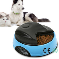 Dog Cat 4 Meal Trays Feeding Bowl LCD Digital Automatic Pet Food Timing Feeder Dispenser Bowls with Personal Voice Recorder
