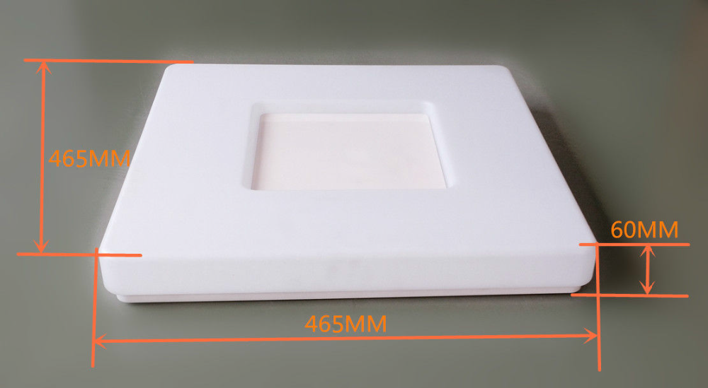 50W square LED ceiling light IP44 CCT dimmable 470*470mm 150 beam angle