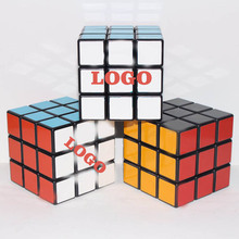 Promotion item high class plastic puzzle brand magic cube for advertisement