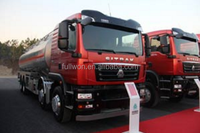 Sinotruk SITRAK 340hp 8x4 euro4 fuel tanker / oil tanker for sale