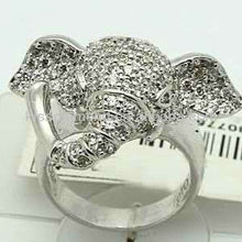 Clear CZ Elephant Animal Rings Jewellery