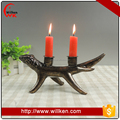 Polyresin christmas ornament deer antlers candle holder