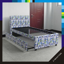 new design low price home furniture kid bunk fabric bed