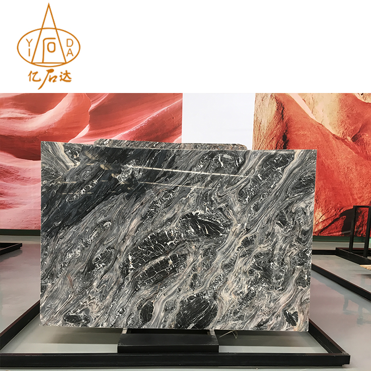 Good Price Grey Marble With Black Veins Big Slab For Sale