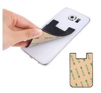 Promotion gift customize silicone 3m sticky portable mobile phone smart credit key card holder