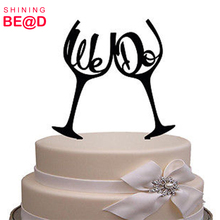 Alibaba Custom We Do acrylic cake toppers with glasses China Supplier Wholesale