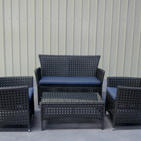 3 Seat Rattan Outdoor Furniture Set