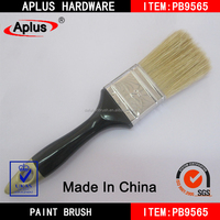 white hog bristle paint brush/long handled soft bristles brush