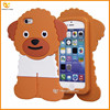 china supplier Poodle dog silicone cover case for iphone 5