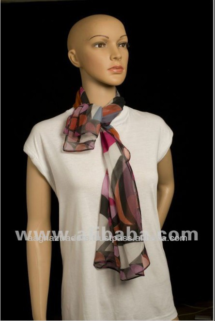 Hand Painted Fashion Style Lady's Pure Silk Shawl