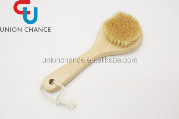 Detachable Long Hand Wooden Bath Brush Body Brush For Dry Body Brushing
