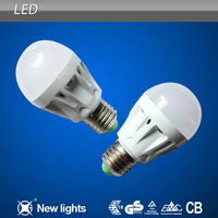 LED Bulb Light Fitting with Plastic Shell, Glass Cover led plastic bulb light