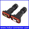 Ip68 male female db9 connector rs232 connector