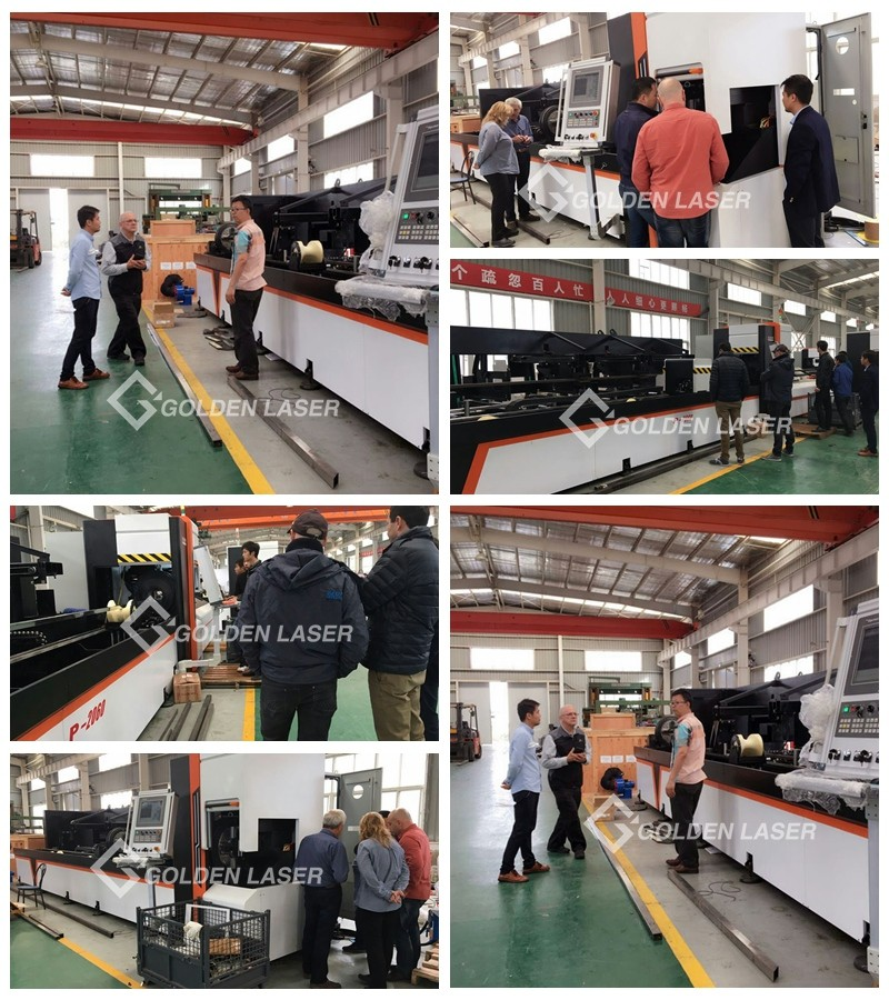 Laser Pipe Cutting Machine for Customers Visit