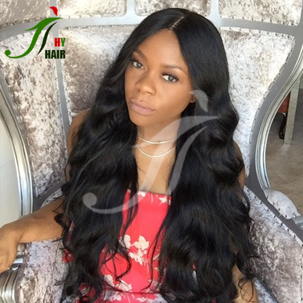"Hot Sales 28"" Long Hair Unprocessed Brazilian Virgin Human Hair Fulll Lace Wig Glueless Wet and Wavy Cheap Lace Front Wig"