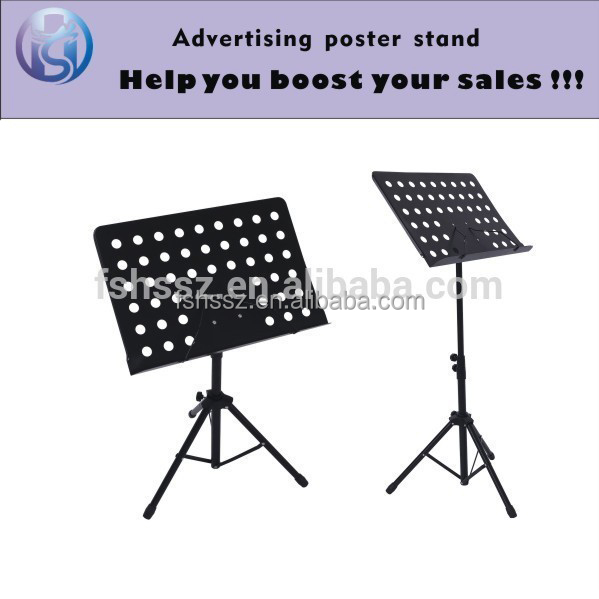 Black aluminum music score display stand HS-ZS16