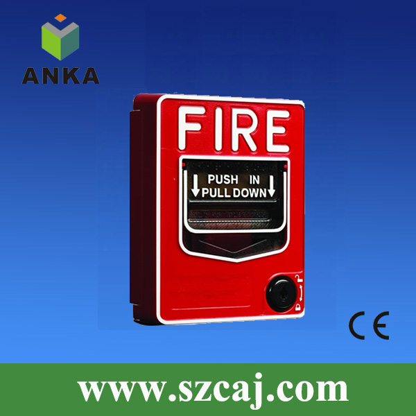Emergency DC24V Manual Key Reset Fire Alarm Pull Station