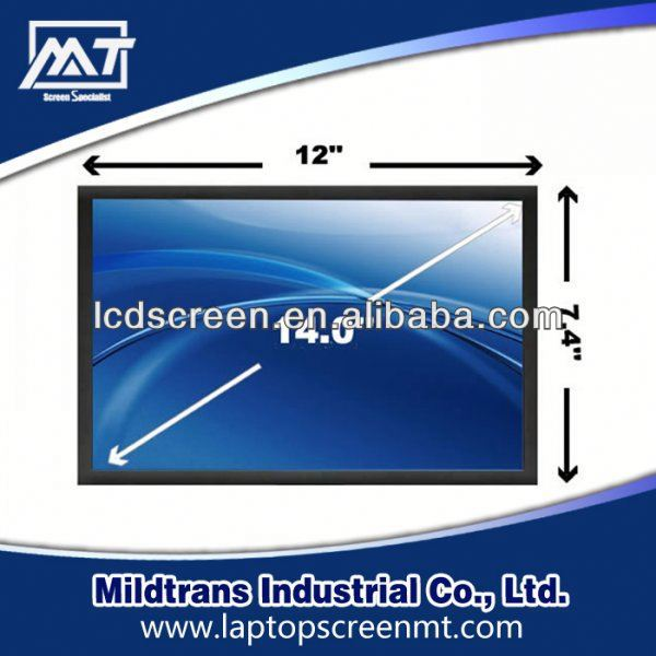 100% original Laptop LED/LCD screen B140XW02 V1 mirror screen laptop protector