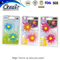 Flower shape car air fresheners wholesale/lovely appearance car vent air freshener/air freshener for car