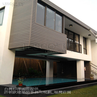 Water and fire resistant pvc based wood plastic composite exterior wall panel