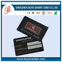 Credit Card Size Sticker Plastic Card