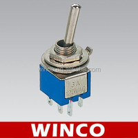 SMTS-202 ON-ON DPDT 6P mini toggle switch,supply different types of toggle switches