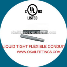 liquid tight galvanized flexible conduit with cotton wire insert