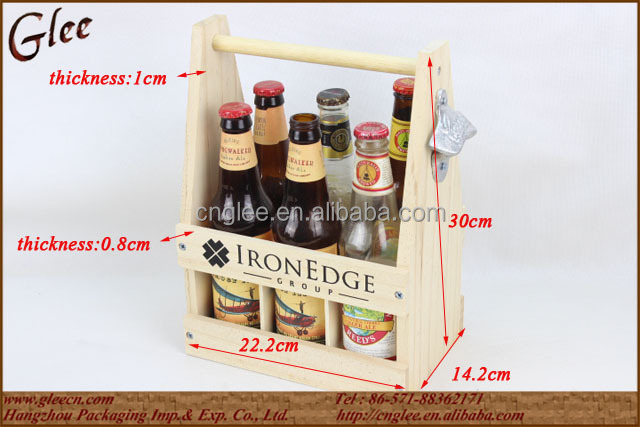 Promotional Portable Wood Wine Bottle Carrier Wholesale