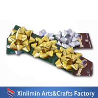2016 hot sale Children's day decorative poly ribbon pull star bows