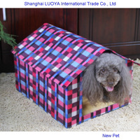 Quality primacy newly design resistant soiling red check kennel indoor dog houses small animals cages