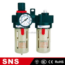 FRL modular A/B Series (Two Union ) air source treatment pneumatic Air Filter Regulator oil lubricator