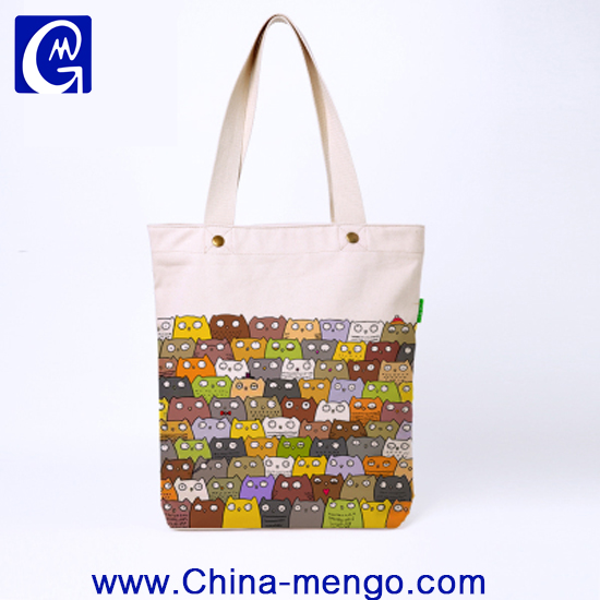 Hot-sale Vintage colorful promotional White 12Oz Canvas cotton grocery tote bag